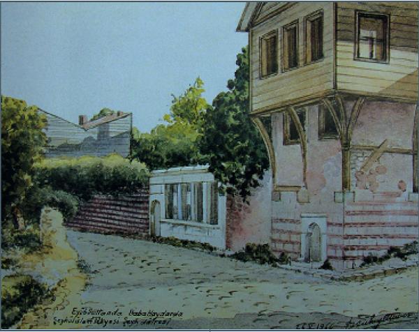 Eyüpsultan'da Baba Haydar'da Şeyhülislam Tekkesi Şeyh Dairesi (1966)