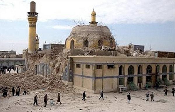 Irak'ın Samarra şehrinde yer alan ve yüzyıllardır Şiiler tarafından ziyaret mekânı olarak kullanılan El-Askeri Camii ve türbesi 2006'da IŞİD tarafından düzenlenen bombalı bir saldırının kurbanı oldu. Şiilere göre son imam Muhammed Mehdi'nin babası Hasan Askeri adına 10. yüzyılda yaptırıldığı düşünülen caminin işçiliği ile göz kamaştıran altın kubbesi tamamen çökmüş durumda.