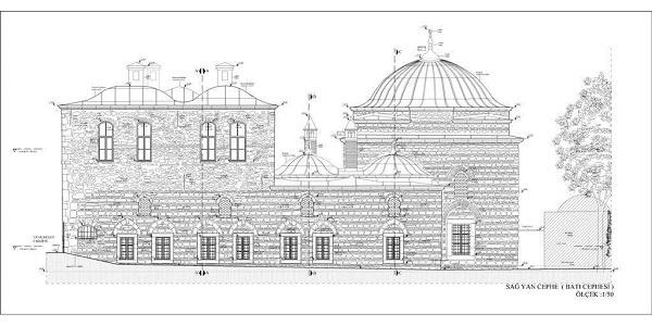 1)Gazi Atik Ali Paşa Medresesi-1497  U plan şeması oluşturacak şekilde, dört hücre odası sonradan merdivenle çıkılan üst katında olmak üzere, on altı oda ve simetri ekseninde bir başodadan oluşmaktadır. Oda önlerinde sonradan kapatılmış revak düzeni bulunmaktadır.