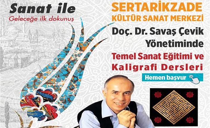 Doç. Dr. Savaş Çevik yönetiminde temel sanat eğitimi ve kaligrafi dersleri