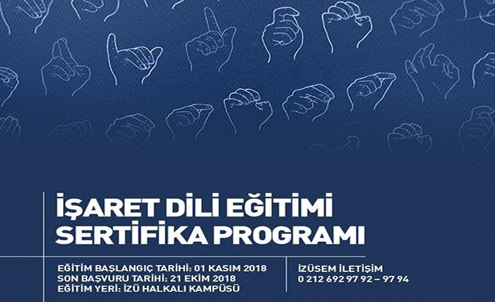 İşaret Dili Eğitimi Sertifika Programı kayıtları devam ediyor