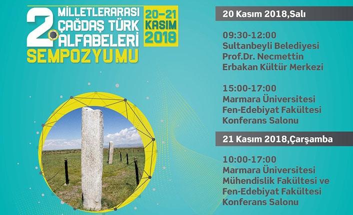 2.Milletlerarası Çağdaş Türk Alfabeleri Sempozyumu açılış programı