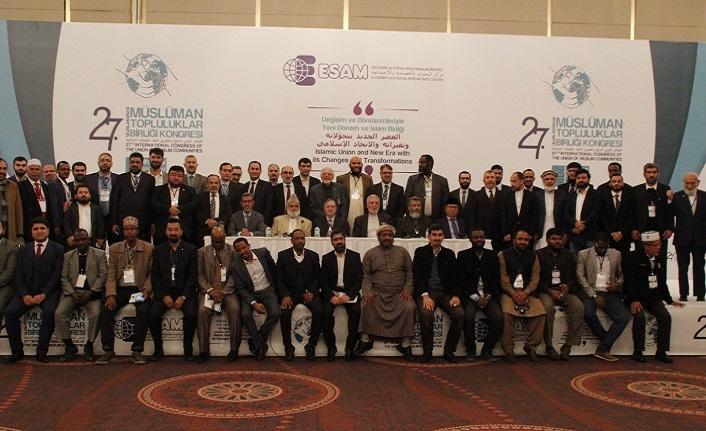 27. Uluslararası Müslüman Topluluklar Birliği Kongresi sonuç deklarasyonu