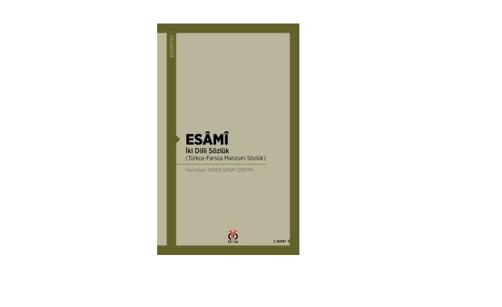 Türkçe-Farsça manzum bir sözlük yayınlandı