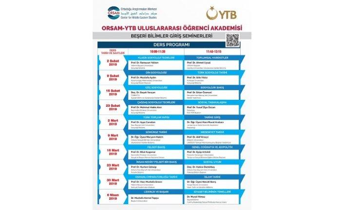 ORSAM-YTB Uluslararası Öğrenci Akademisi