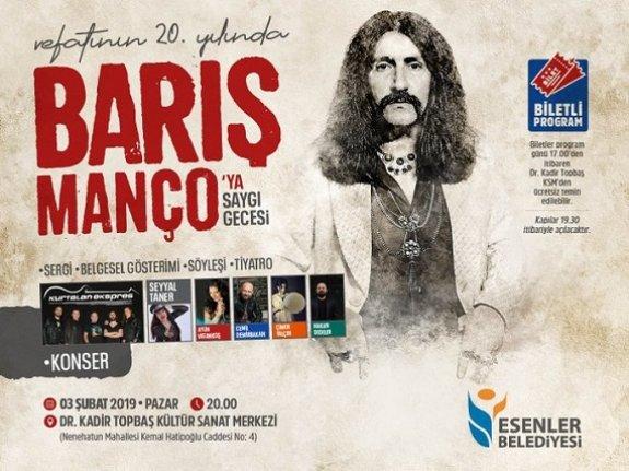 Vefatının 20. yılında Barış Manço'ya saygı gecesi
