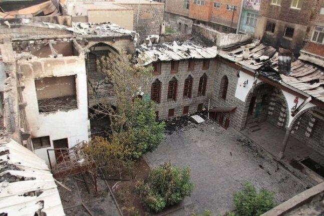 Teröristlerin yaktığı Ziya Gökalp Müzesi onarıldı