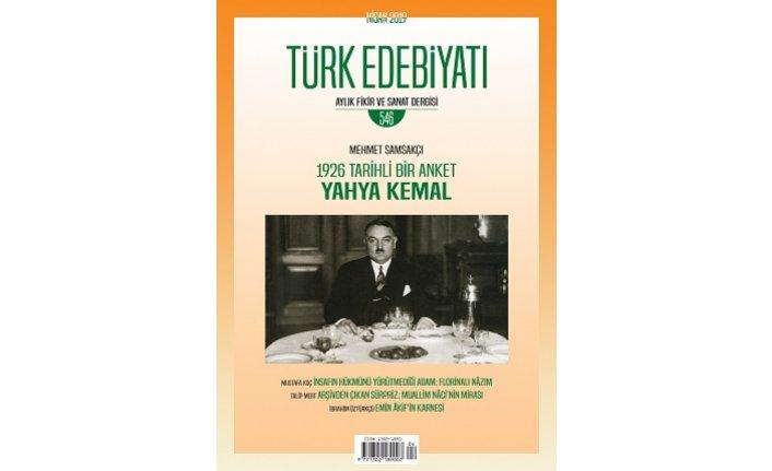 Türk Edebiyatı dergisinin Nisan sayısı çıktı
