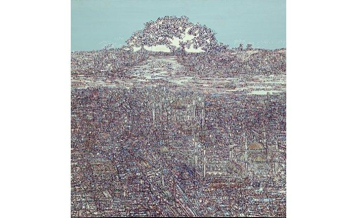 """Devrim Erbil'in """" Mavi"""" adlı resim sergisi"""