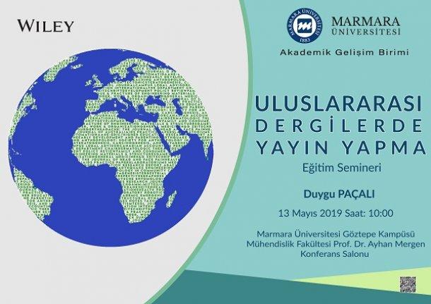 """Eğitim semineri: """"Uluslararası Dergilerde Yayın Yapma"""""""