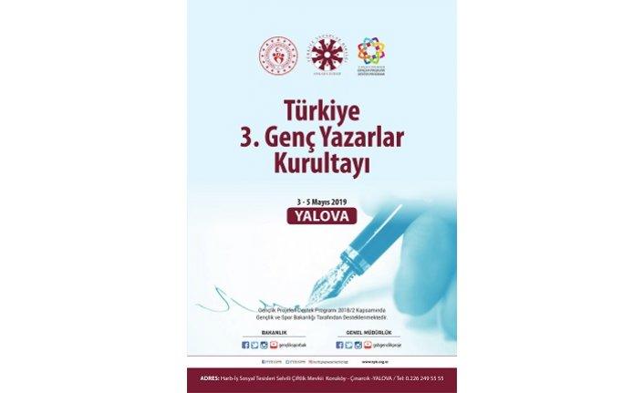 Türkiye 3. Genç Yazarlar Kurultayı Yalova'da toplanıyor