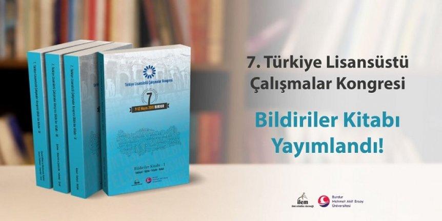 7. Türkiye Lisansüstü Çalışmalar Kongresi Bildirileri kitaplaştı