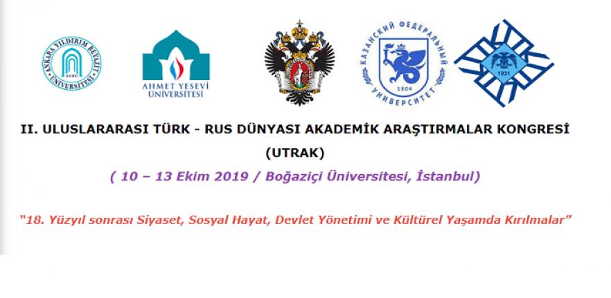 2. Uluslararası Türk-Rus Dünyası Akademik Araştırmalar Kongresi