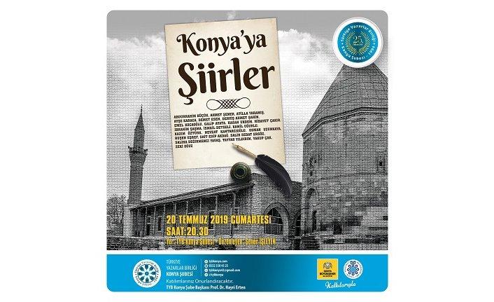 """TYB Konya Şubesi'nden """"Konya'ya Şiirler"""" programı"""