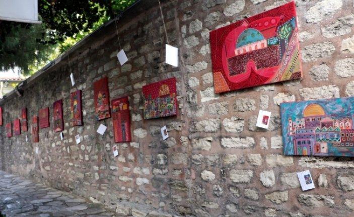 Eyüpsultan'da 'Kırmızı Kudüs' Sergisi  açıldı