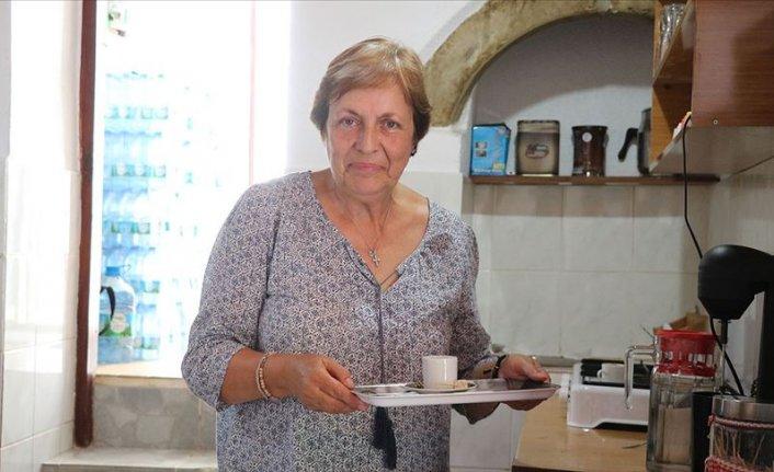 Gökçeada'da 'Madam'ın dibek kahvesi' lezzeti