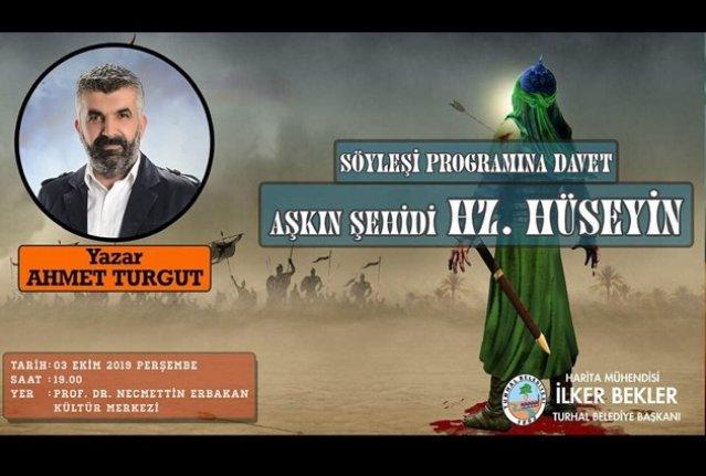 Ahmet Turgut Turhal'da okurlarıyla buluşuyor