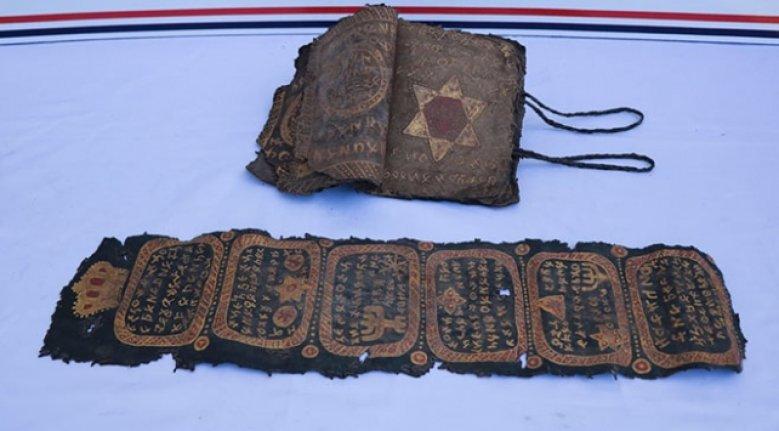 Diyarbakır'da İncil ve İbranice işlemeli ferman ele geçirildi