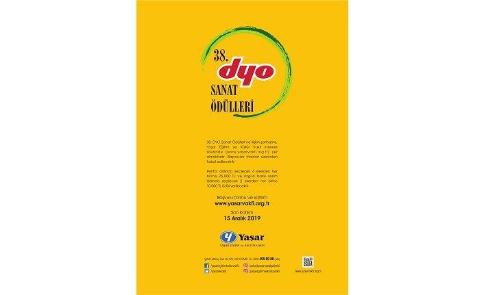 DYO Sanat Ödülleri'nin 38'ncisi için başvurular başladı