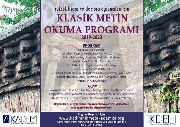 Kadim Hikmet Akademisi programı başvuruları başladı...