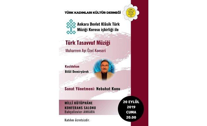 Türk Kadınları Kültür Derneği Genel Merkezi Muharrem ayı konseri