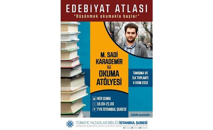 TYB İstanbul'da 'Edebiyat Atlası' başlıyor