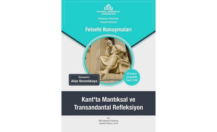 """""""Kant'ta Mantıksal ve Transandantal Refleksiyon"""""""