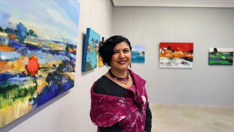 'Turkuaz sınırlar' sergisi sanatseverlerle buluştu
