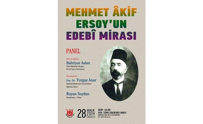 M. Âkif Ersoy'u anma paneli