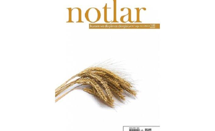 Notlar dergisinin 12. sayısı çıktı
