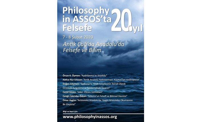 Assos'ta Felsefe'nin 20. yılı: Antik Çağ'da Anadolu'da Felsefe ve Bilim