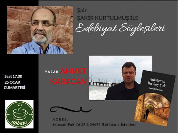 Edebiyat Söyleşilerinin konuğu Ahmet Karacan