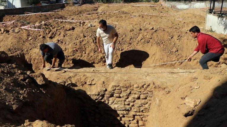 Aydın'da inşaat kazısı çalışmalarında 1600 yıllık sur duvarı bulundu