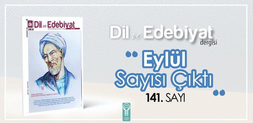 Farabi, Dil ve Edebiyat Dergisi Eylül sayısında!