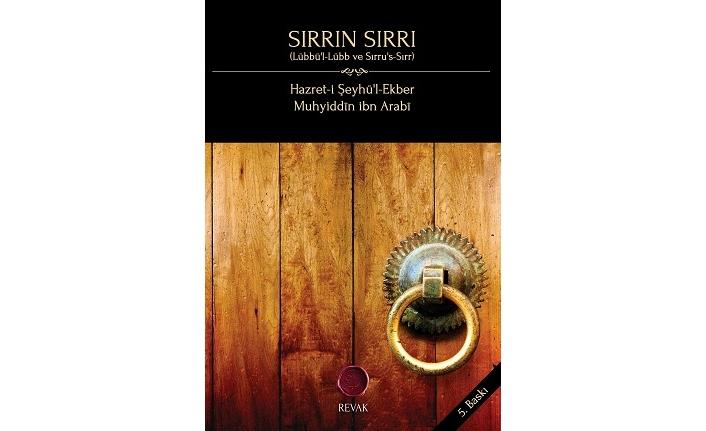 Revak Kitabevi'nden yeni baskı: Sırrın Sırrı // Muhyiddin ibn Arabî