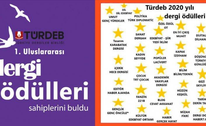 TÜRDEB tarafından verilen 'Dergi Ödülleri'ni kazananlar açıklandı