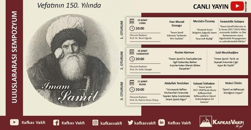 Uluslararası Sempozyuma Davet - Vefatının 150. Yılında İmam Şamil