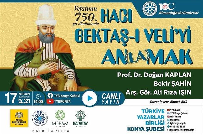 """""""Vefatının 750. Yılında Hacı Baktaş Velî'yi An(la)mak"""" konuşuldu"""