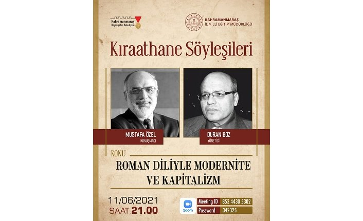 Kıraathane Söyleşileri'nin yeni konuğu: Mustafa Özel