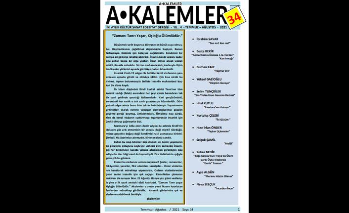 Akalemler Dergisi 34. sayı okuru ile buluştu
