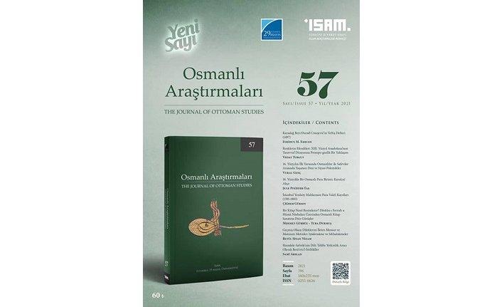 Osmanlı Araştırmaları Dergisi'nin 57. sayısı yayımlandı