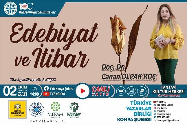"""TYB Konya'da """"Edebiyat ve İtibar"""" konuşuldu"""