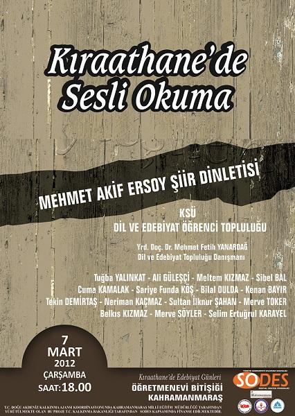 Mehmet Akif Ersoy şiir dinletisi