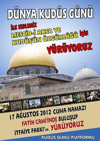 Kudüs Günü'nde Fatih'te yürüyüş var