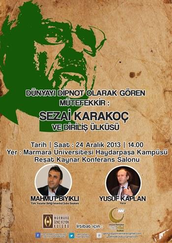 Sezai Karakoç ve Diriliş konuşulacak