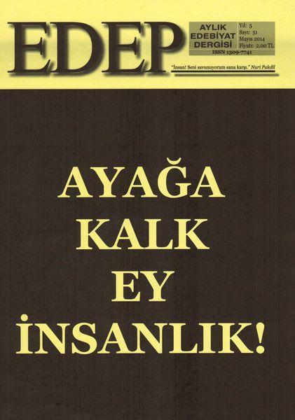 Edep'in Mayıs 2014 sayısı çıktı