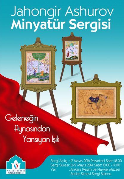 Ankara'da Jahongir Ashurov minyatür sergisi