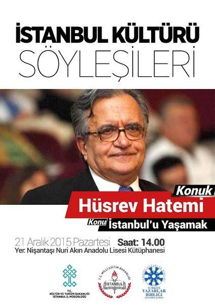 Hüsrev Hatemi'den İstanbul söyleşisi