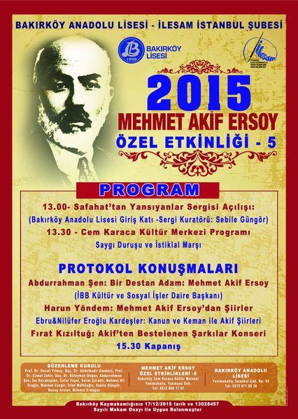 Mehmed Akif anılıyor