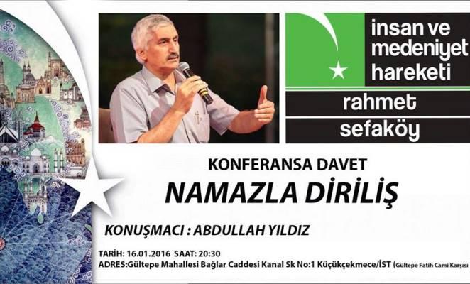 Sefaköy'de Namazla Diriliş konferansı